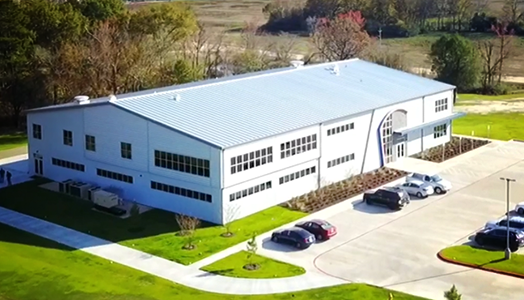 Aerial view of iClassPro building