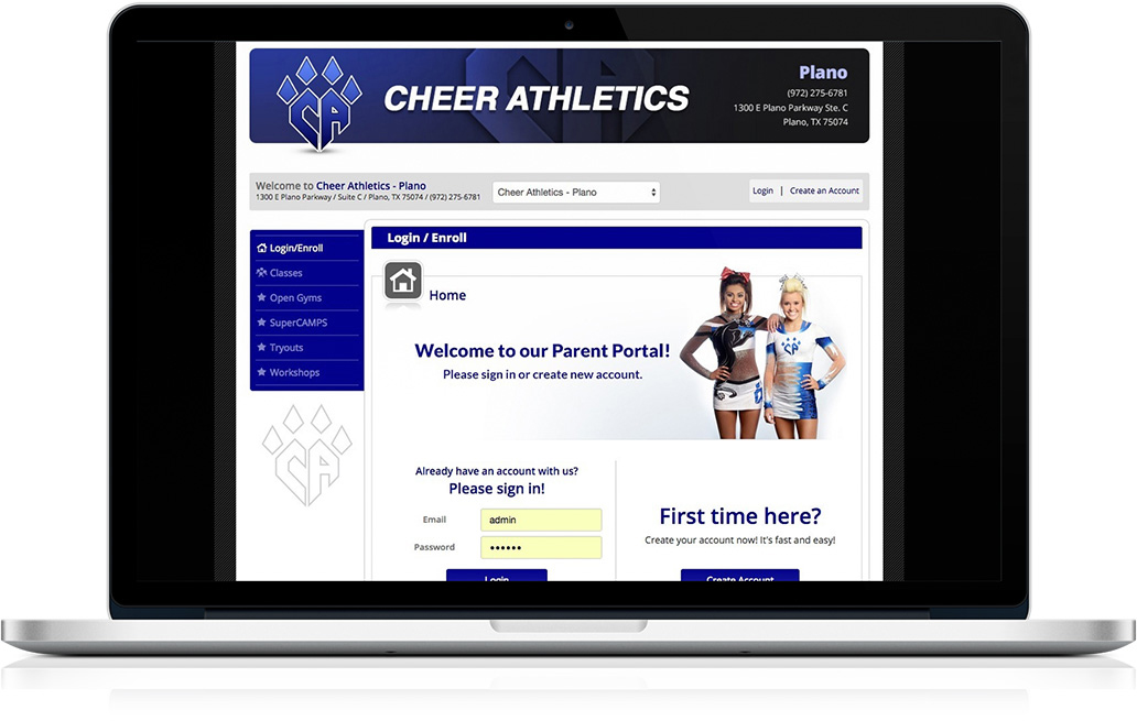 Cheer Athletics Parent Portal