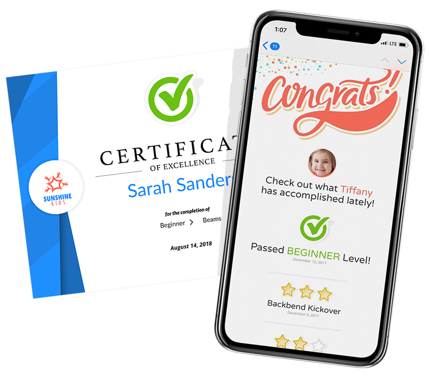 iClassPro Skills Certifications and Mobile mockup
