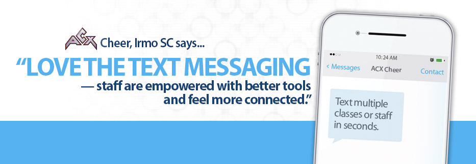 Text messaging in iClassPro