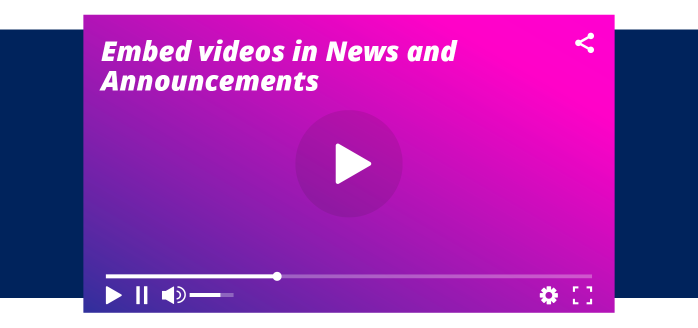 iClassPro Blog Image for Embed Videos in News & Announcements