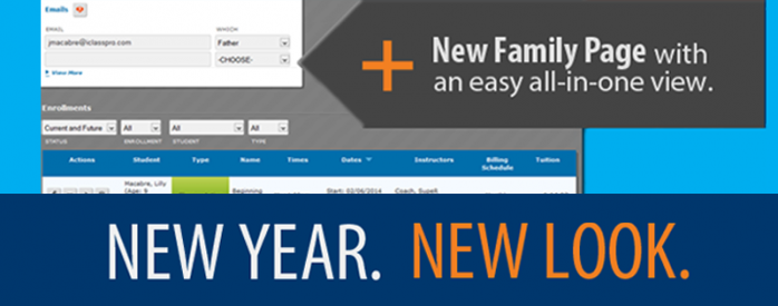iClassPro Blog Image for New All-In-One Family Page Released!