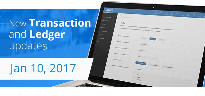 iClassPro Blog Image for New Transaction and Ledger updates coming Jan 10, 2017!