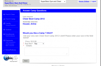 iClassPro Features Image of Camp Schedules & Enrollments