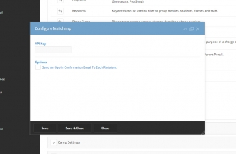iClassPro Features Image of MailChimp Integration