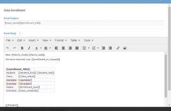 iClassPro Features Image of Automated Templates